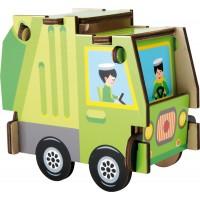 Puzzle - Set de construit Masina de gunoi