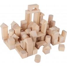 Sac cu 100 de cuburi din lemn