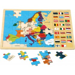 Puzzle lemn Europa  - Limba Germana