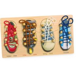 Set 4 pantofiori cu siret