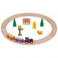 Set Trenulet din lemn