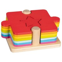 Puzzle colorat 2 in 1