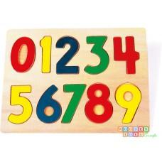 Puzzle lemn cifre
